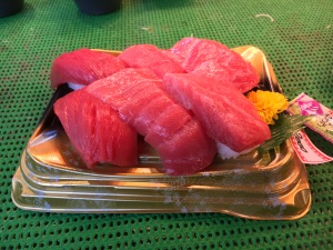 The one time I did have sushi for breakfast at the Tsukiji Fish Market. It was as good as it looks.