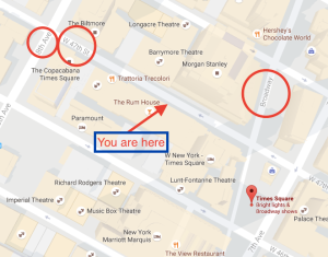 Street map of Times Sqaure.